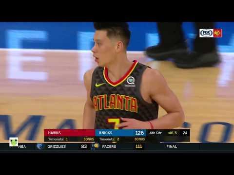 Jeremy Lin's Offense & Defense Highlights 2018-10-18 Hawks VS knicks