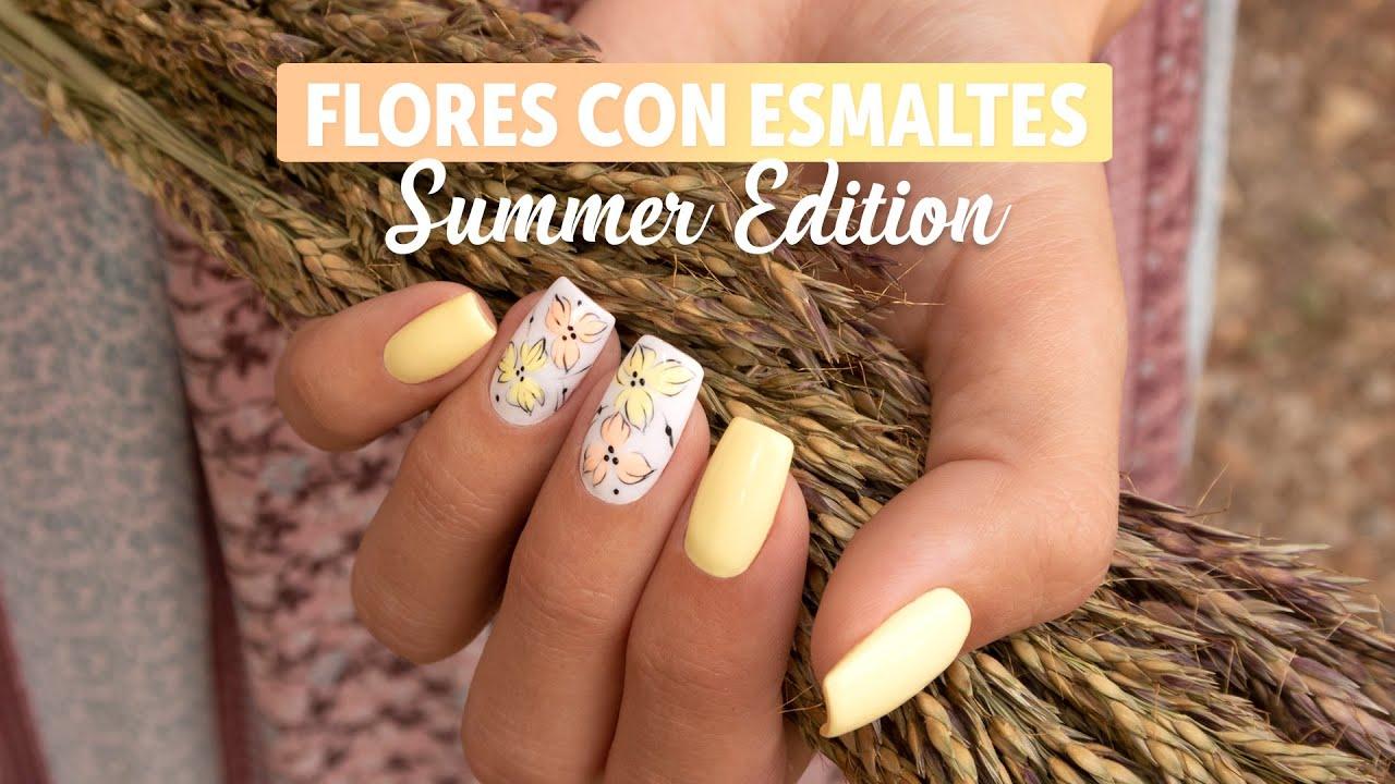 Flores con esmaltes permanentes Summer Edition | Manicura24