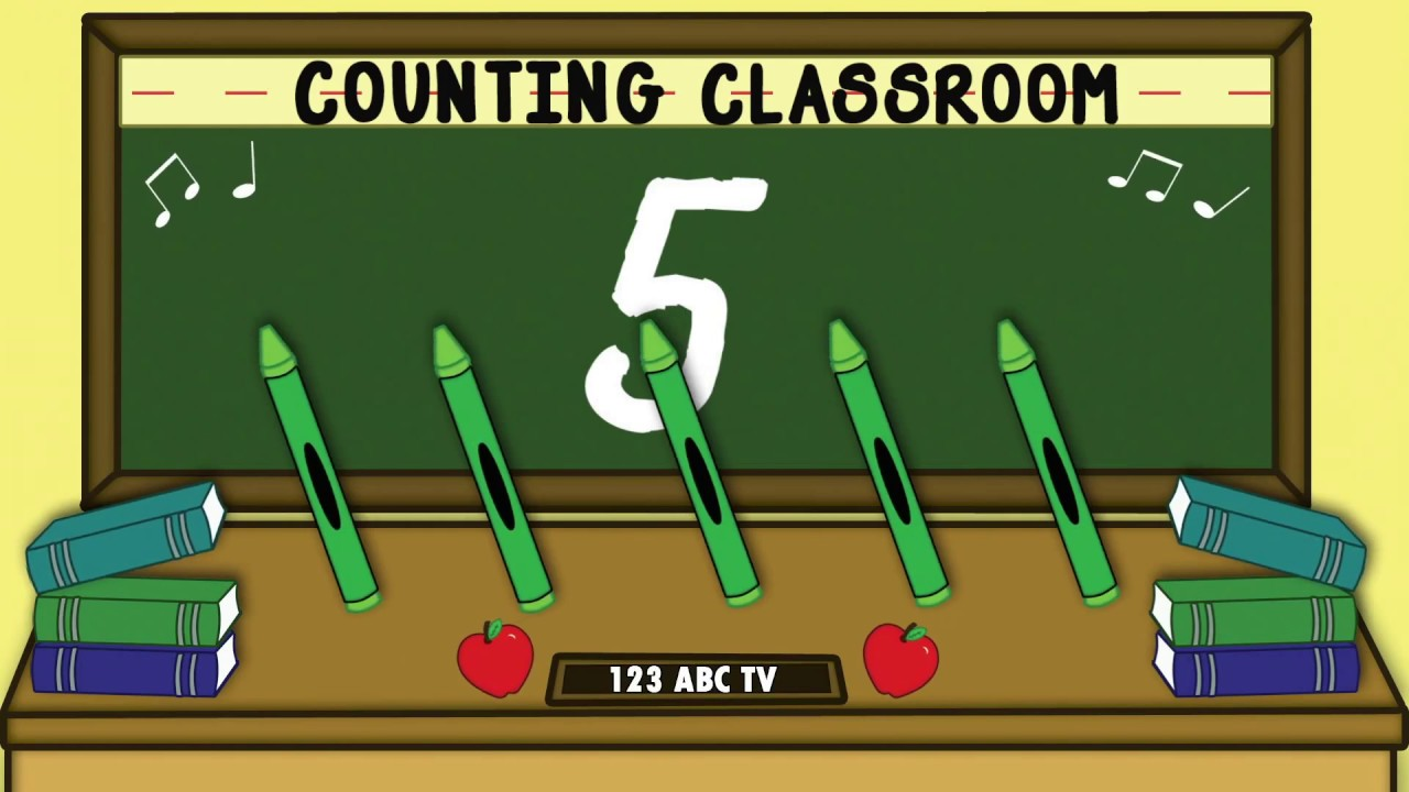 Counting Classroom - Counting to 5 - Learning to Count - Fun Kids ...