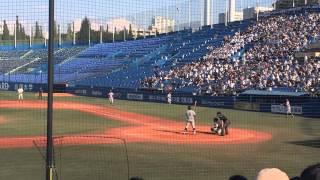 慶應大学4番横尾 打席シーン