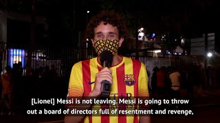 All the barcelona fans seem to have same opinion about club at moment and who should be leaving club.