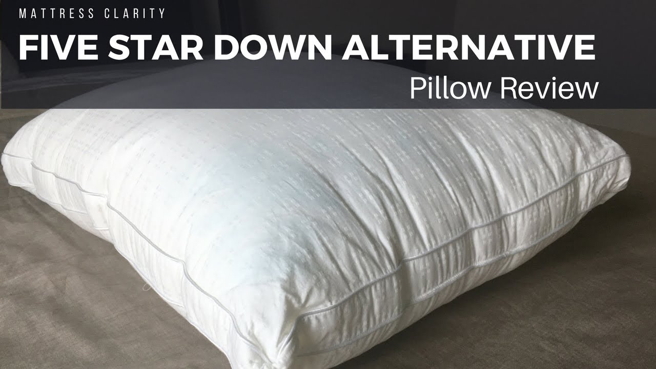 five star down alternative pillow review comfortable down alternative