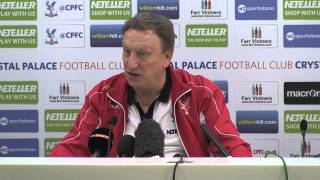Neil Warnock Pre-Southampton Press Conference