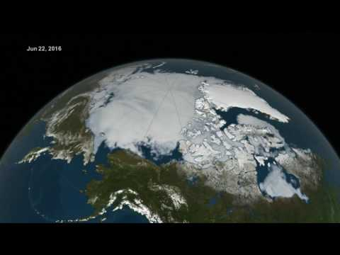 Arctic Sea Ice from March to August 2016