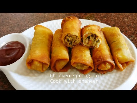 Chicken Spring Rolls | Chicken Roll | Chicken Starter | Chicken Recipe