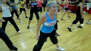 ZUMBA class in Okinawa dances to WAKA WAKA for 1GOAL