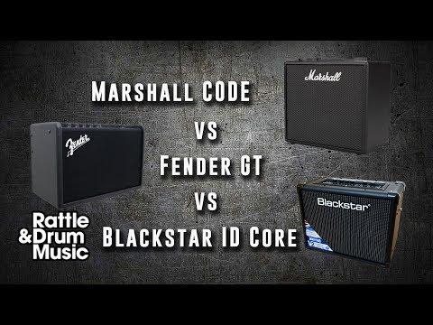 Marshall CODE Vs Fender GT Vs Blackstar ID Core - Digital Amp Shootout
