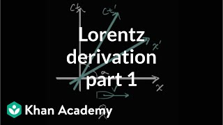 Lorentz Transformation Derivation Part 1