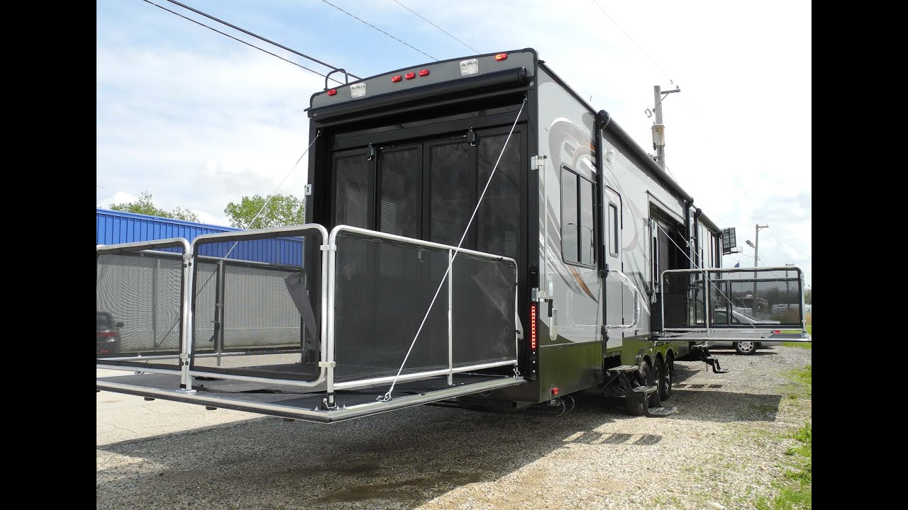 2015 Cyclone Thor 4200 Toy Hauler Fifth Wheel Rv Ramp Door
