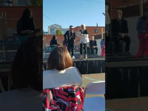 Benicio's graduation from North Oakland Community Charter School (Ms. Mack intro)