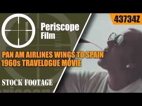 PAN AM AIRLINES   WINGS TO SPAIN  1960s TRAVELOGUE  MOVIE (Print 2) 43734z
