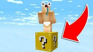 SURVIVRE DANS MINECRAFT SUR UN LUCKY BLOCK - SKY WARS Minecraft