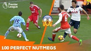 100 Perfect Nutmegs | Premier League Compilation