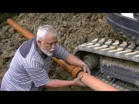 How to install a garden drainage pipe