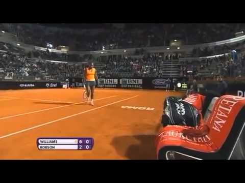 ▶ Serena Williams vs Laura Robson 2nd Round WTA Rome 2013 Full Highlights   YouTube