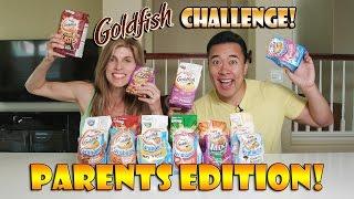 GOLDFISH CHALLENGE - PARENTS EDITION! 16 Fishy Flavors!