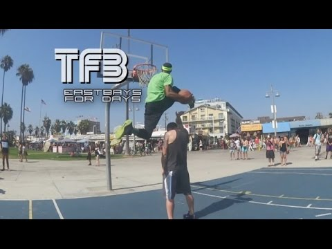 Chris Staples puts on an EASTBAY DUNK Display at Venice Beach  (Regular, Dubble Up and 360 Eastbay)