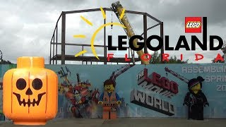 Legoland Florida Update (9/24/2018) LEGO Movie World Construction, Halloween & More