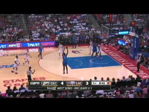 NBA Playoffs 2014 - Oklahoma City Thunder vs Los Angeles Clippers Game 4 Highlights | 5/11/14