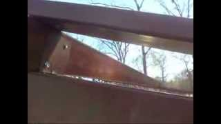 Building My Work Shop-sealing The Wall And Roof Junction