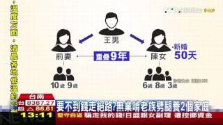 【TVBS】要不到錢走絕路? 無業啃老族劈腿養2個家庭