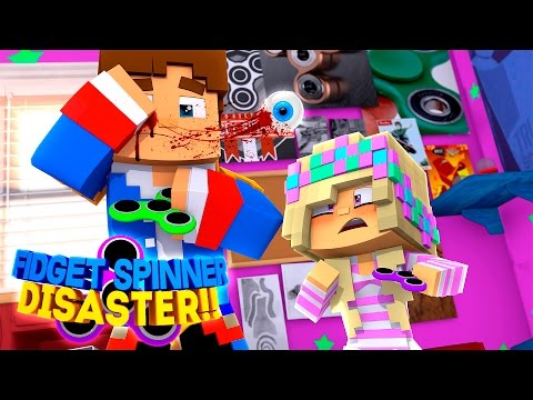 Minecraft Adventure - FIDGET SPINNER V's EYE BALL, LITTLE DONNY'S EYE POPS OUT!!