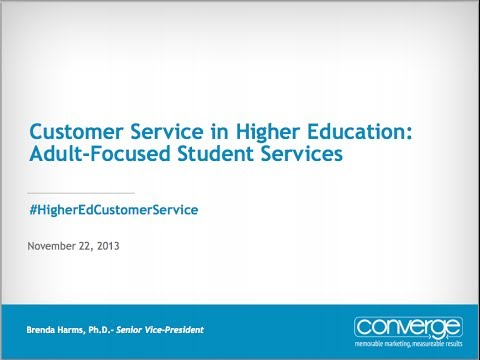 customer service in higher education Applying customer service to higher education  keys to attract & keep students on campus ways to integrate customer service into any department of your college.