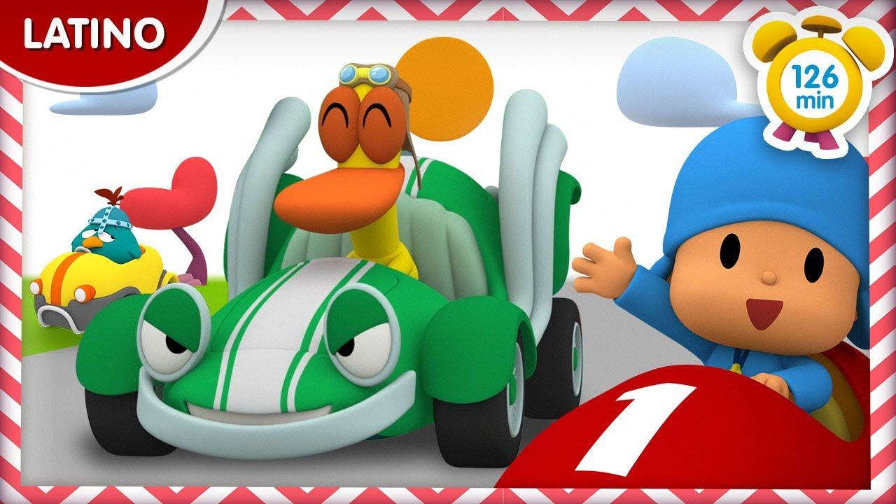 🚗 POCOYÓ en ESPAÑOL LATINO - Carrera de autos [126 min] |CARICATURAS y DIBUJOS ANIMADOS para niños