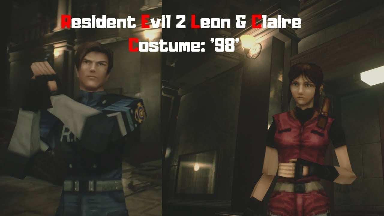 Resident Evil 2 Remake Leon Claire Costume 98 Youtube