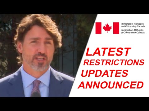 UPDATES ON RESTRICTIONS ON TRAVELLING TO CANADA.
