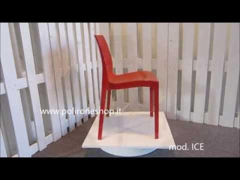 Sedie Da Giardino In Plastica Grand Soleil : Sedie upon grandsoleil in resina e policarbonato per linterno e l