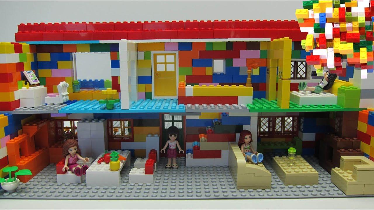 lego friends 2 house with olivia mia emma stephanie youtube. Black Bedroom Furniture Sets. Home Design Ideas