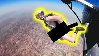 JUMPING OUT OF A PLANE WITH NO CLOTHES ON!