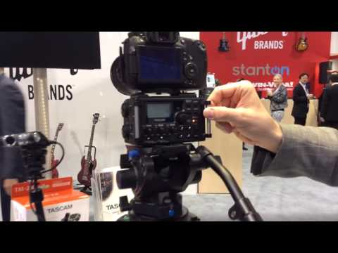 NAMM 2014 TASCAM camera audio - DR-60D recorder and TM-2X mic