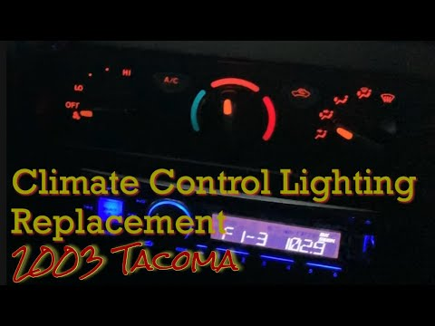 Replacing Temp Control Lights 03 Tacoma