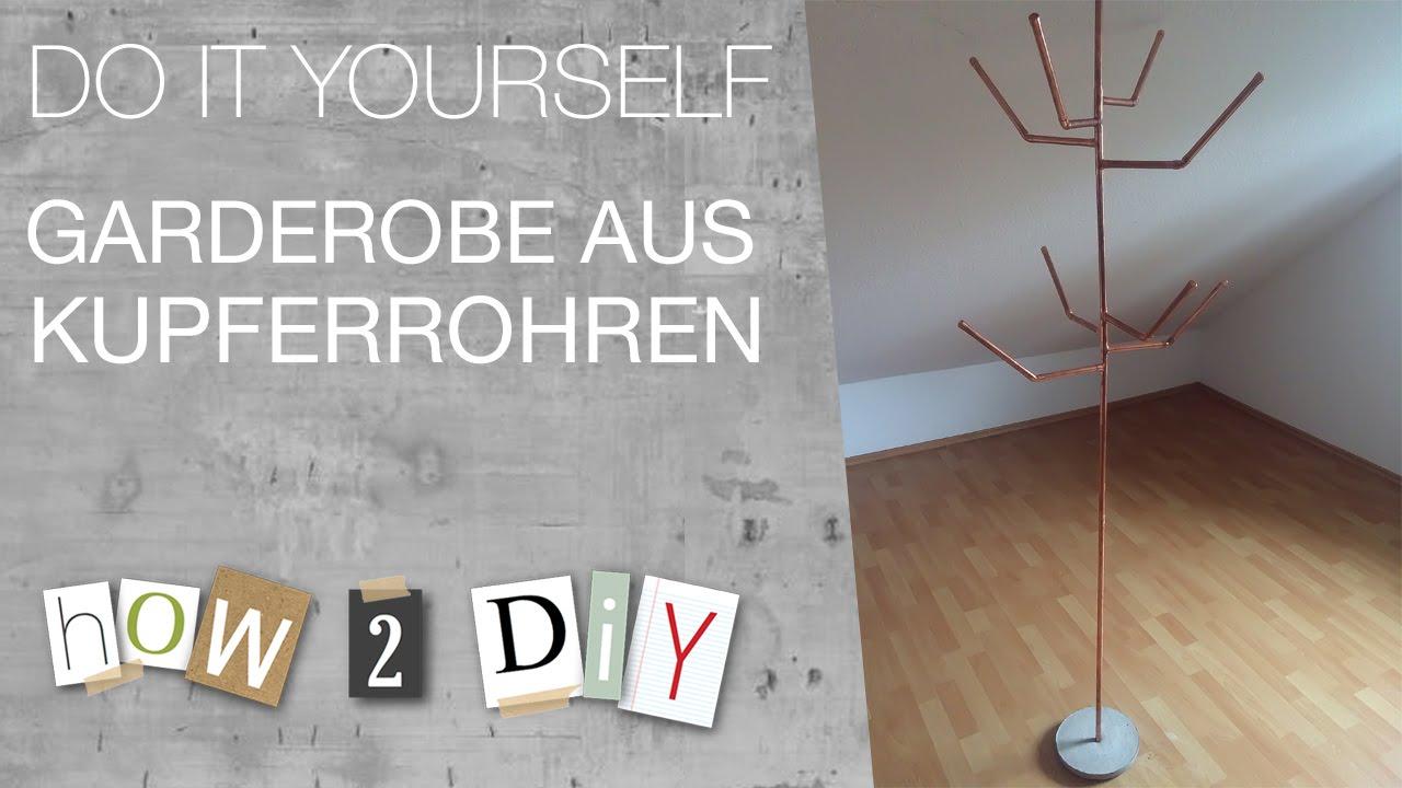 how 2 diy - garderobe aus kupferrohren - youtube, Innenarchitektur ideen