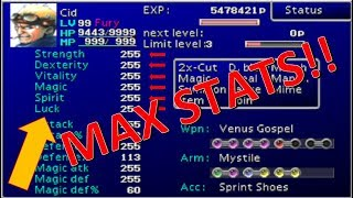 How to Max Out Your Characters Stats Fast!! - Final Fantasy VII