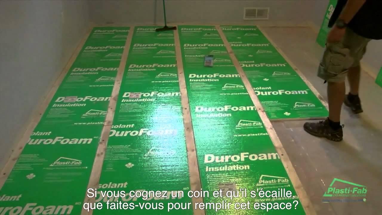 & DuroFoam Basement Floor Insulation FRENCH - YouTube