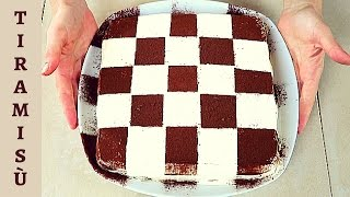 Ricetta Di Tiramisu Di Benedetta.Tiramisu A Scacchi Ricetta Facile Easy Tiramisu Chessboard Recipe Youtube