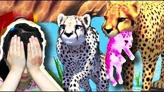 СИМУЛЯТОР ДИКОЙ КОШКИ #1 Родился котенок Гепард смешное видео для детей Валеришка