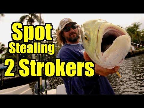 Tarpon Fishing Captain talks Spot Stealing 2 Strokers - Captain Jeff