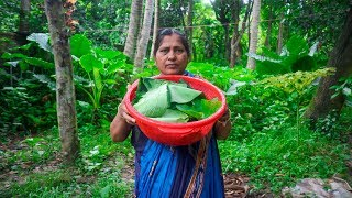 Vegetable Recipe: Multi Spinach Mixed Paste Recipe by Village Food Life