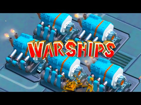 Boom Beach Warships UNLOCKING 5 ENGINE ROOMS!