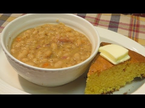 Homemade Bean Soup - Northern Beans With Ham Hocks - Bean Soup Recipe