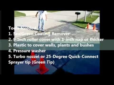 How to remove sealer off a concrete driveway