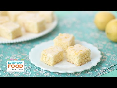 Lemon Drizzle Slices (Donal Skehan x Sarah Carey Collab!)