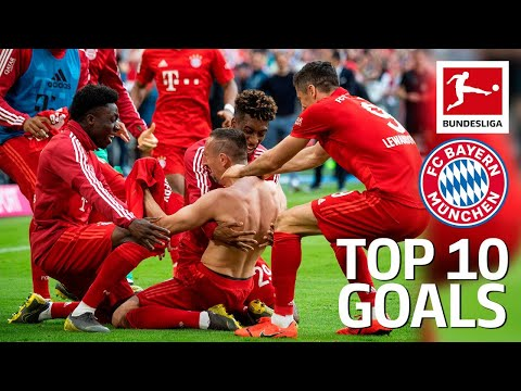 Top 10 Goals FC Bayern München 2018/19 - Lewandowski, James, Robben & More