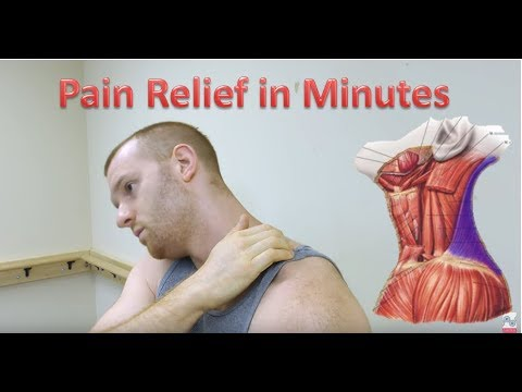 Upper Trapezius Release Trigger Point Release Neck Pain Relief