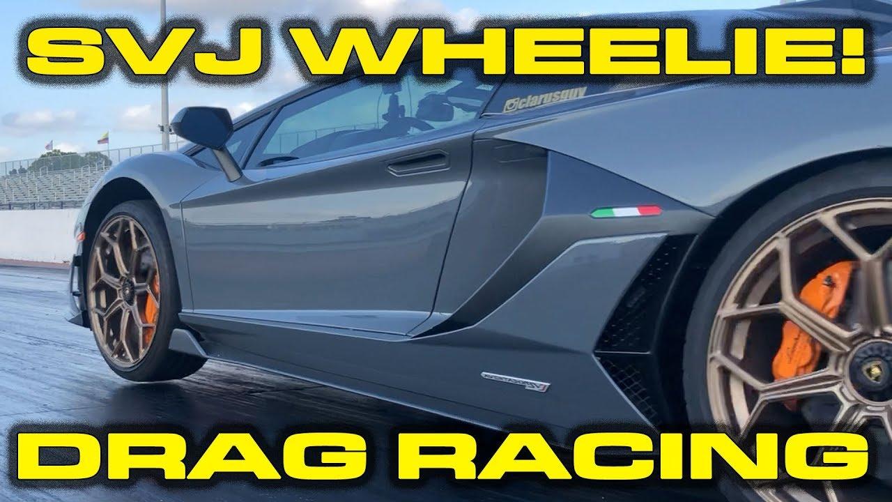 Watch This Lamborghini Aventador SVJ Pop A Wheelie