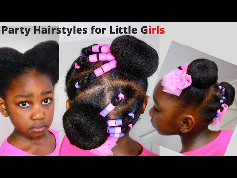 quick-&-easy-10-mins-sock-bun-hairstyle-for-little-girls-/-kids-natural-hairstyle/-double-bun-style